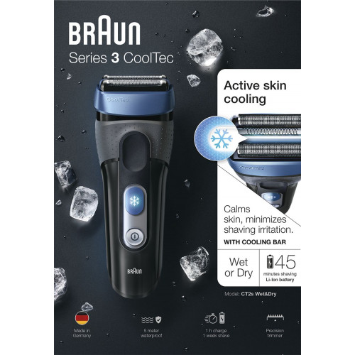 ... Braun Cooltec CT2S Wet Dry Borotva ... 814833aed4